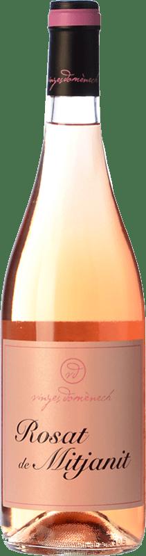 12,95 € Free Shipping | Rosé wine Domènech Rosat de Mitjanit D.O. Montsant Spain Grenache Hairy Bottle 75 cl