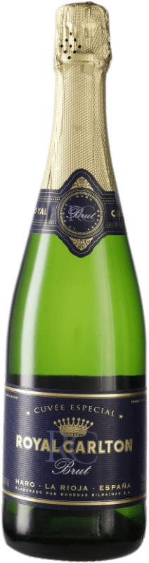 16,95 € Free Shipping | White sparkling Bodegas Bilbaínas Royal Carlton Brut D.O. Cava Spain Viura Bottle 75 cl