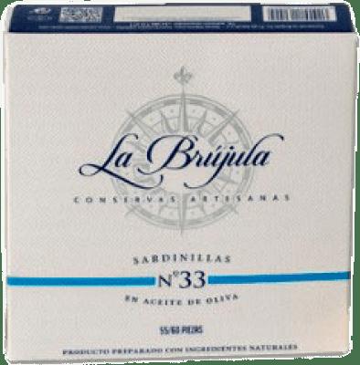 9,95 € Free Shipping | Conservas de Pescado La Brújula Sardinillas Spain 55/60 Pieces