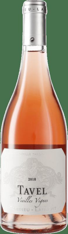 12,95 € Free Shipping | Rosé wine Tardieu-Laurent Tavel Vieilles Vignes A.O.C. Côtes du Rhône France Syrah, Grenache, Cinsault Bottle 75 cl