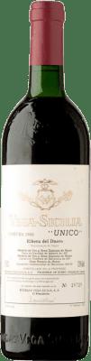 682,95 € Free Shipping | Red wine Vega Sicilia Único Gran Reserva 1983 D.O. Ribera del Duero Castilla y León Spain Tempranillo, Merlot, Cabernet Sauvignon Bottle 75 cl