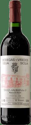 134,95 € Envío gratis | Vino tinto Vega Sicilia Valbuena 5º Año Reserva 1999 D.O. Ribera del Duero Castilla y León España Tempranillo, Cabernet Sauvignon Botella 75 cl