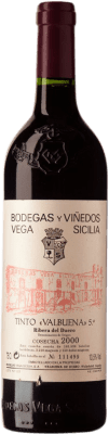 134,95 € Envoi gratuit | Vin rouge Vega Sicilia Valbuena 5º Año Reserva 2000 D.O. Ribera del Duero Castille et Leon Espagne Tempranillo, Merlot, Malbec Bouteille 75 cl