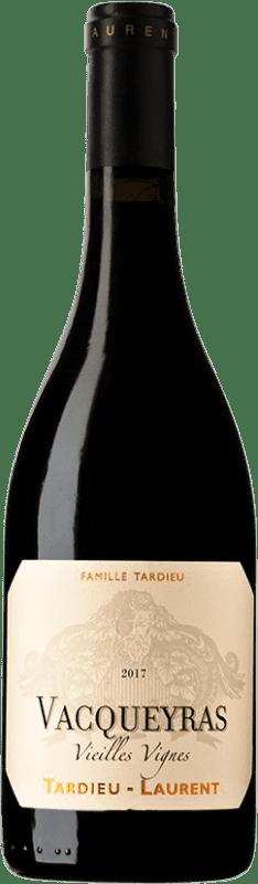29,95 € Envío gratis | Vino tinto Tardieu-Laurent Vieilles Vignes A.O.C. Vacqueyras Francia Syrah, Garnacha Botella 75 cl