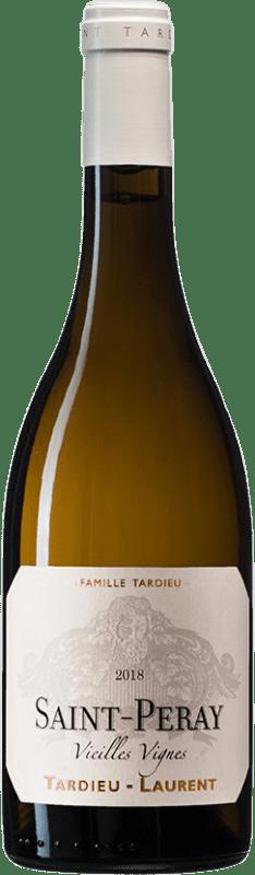 26,95 € Envío gratis | Vino blanco Tardieu-Laurent Vignes Vieilles Blanc A.O.C. Saint-Péray Francia Roussanne, Marsanne Botella 75 cl
