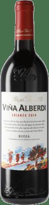 12,95 € Envío gratis | Vino tinto Rioja Alta Viña Alberdi Crianza D.O.Ca. Rioja España Botella 75 cl
