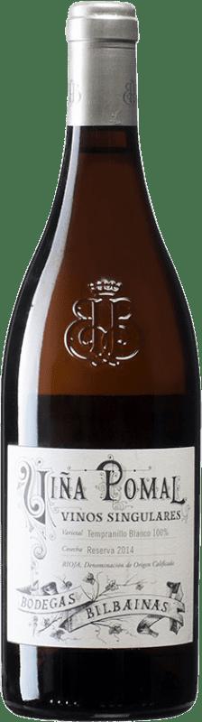 29,95 € Envoi gratuit | Vin blanc Bodegas Bilbaínas Viña Pomal Reserva D.O.Ca. Rioja Espagne Tempranillo Blanc Bouteille 75 cl