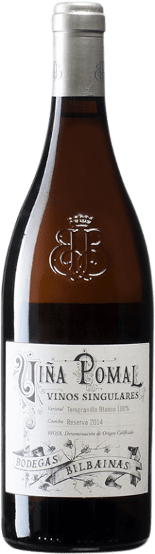 29,95 € Free Shipping | White wine Bodegas Bilbaínas Viña Pomal Reserva D.O.Ca. Rioja Spain Tempranillo White Bottle 75 cl
